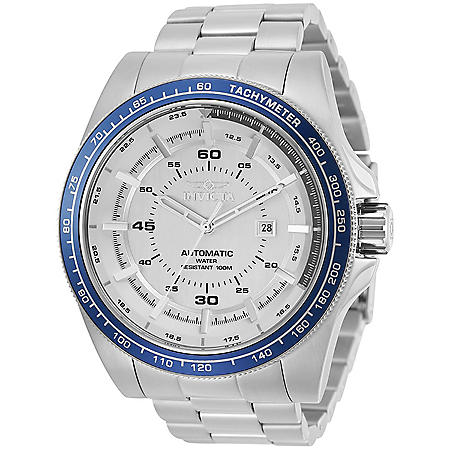 Invicta Men's Speedway Automatic 52mm Silver, Silver Dial