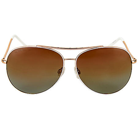 Bebe Women's Aviator Sunglass
