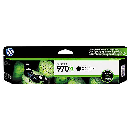HP 970XL High Yield Original Ink Cartridge, Black (6,600 Yield)