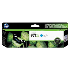 HP 971XL High Yield Original Ink Cartridge, Cyan (6,600 Yield)
