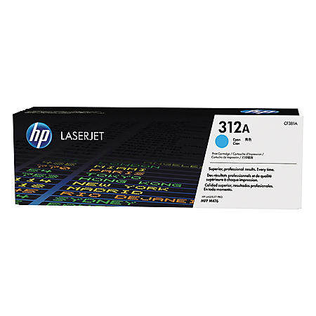 HP 312A Original Laser Jet Toner Cartridge, Cyan (2,700 Page Yield)