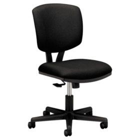 HON Volt Series Synchro-Tilt Fabric Task Chair, Black
