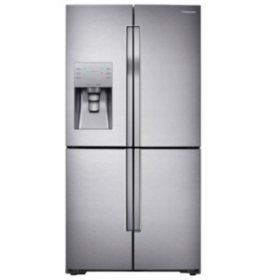 SAMSUNG 22.5 Cu. Ft. Counter-Depth 4-Door Flex Refrigerator with FlexZone, Stainless Steel - RF23J9011SR