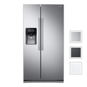 Samsung 24.5 cu. ft. Side-by-Side Refrigerator with External Water and Ice Dispenser