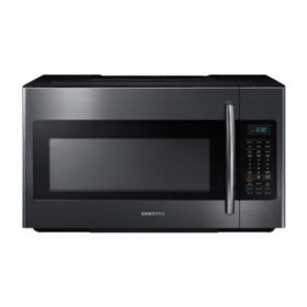 SAMSUNG 2.1 Cu. Ft. Over-The-Range Microwave with Sensor Cook, Black Stainless Steel - ME21M706BAG