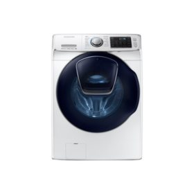 SAMSUNG AddWash 4.5 Cu. Ft. Stackable High-Efficiency Front-Load Washer with Steam Cycle, White - WF45K6500AW
