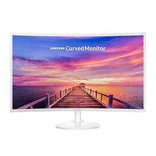 "Samsung 27"" White Super-Slim Curved 1080p LED Monitor, 1920 x 1080 Resolution"