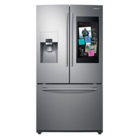 SAMSUNG 24.2 Cu. Ft. 3-Door French Door Refrigerator with Family Hub™- RF265BEAE