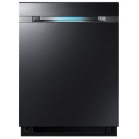 SAMSUNG Top Control 42-Decibel Built-In Dishwasher with WaterWall, Black Stainless Steel - DW80M9550UG