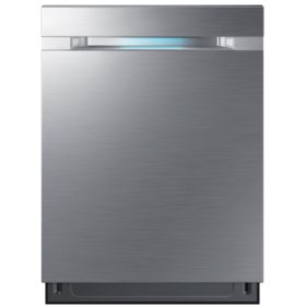 SAMSUNG Top Control 42-Decibel Built-In Dishwasher with WaterWall, Stainless Steel - DW80M9550US