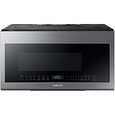 SAMSUNG 2.1 Cu. Ft. Over-the-Range Microwave with Sensor Cooking Controls- ME21M706BAS