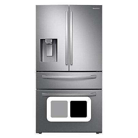 Samsung 23 cu. ft. Counter Depth 4-Door Refrigerator with FlexZone™ Drawer