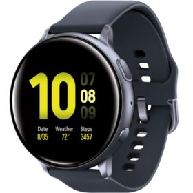 Samsung Galaxy Active2 Smart Watch 44mm (Black) w/ Bonus Charging Dock
