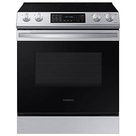 Samsung 6.3 cu. ft. Slide-in Electric Range with Convection