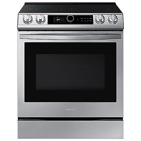 Samsung 6.3 cu. ft. Slide-in Electric Range with Smart Dial & Air Fry