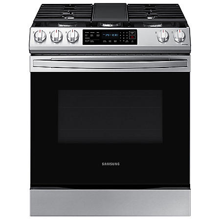 Samsung 6.0 cu. ft. Slide-in Gas Range with Convection