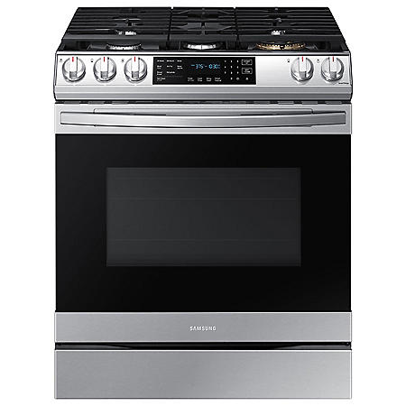 Samsung 6.0 cu. ft. Slide-in Gas Range with Air Fry