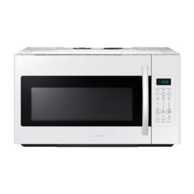 SAMSUNG 1.8 Cu. Ft. Over-The-Range Microwave with Sensor Cooking Controls, White - ME18H704SFW
