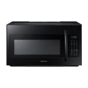 SAMSUNG 1.8 Cu. Ft. Over-The-Range Microwave with Sensor Cooking Controls, Black - ME18H704SFB
