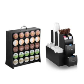 Mind Reader Condiment Organizer and K-Cup Rack
