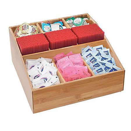 Mind Reader Square 9-Compartment Tea and Coffee Condiment Organizer
