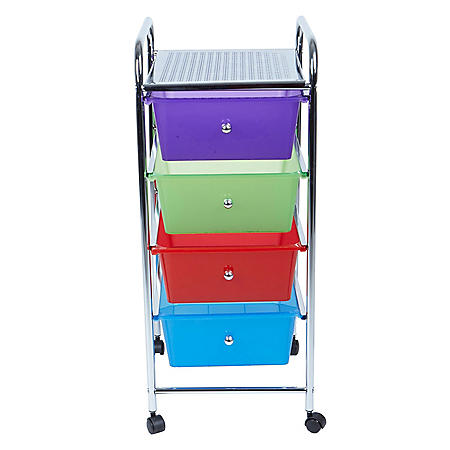 Mind Reader 4-Drawer Storage Utility Cart