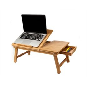 Mind Reader Bamboo Adjustable Lap Desk and Bed Tray, Assorted Colors