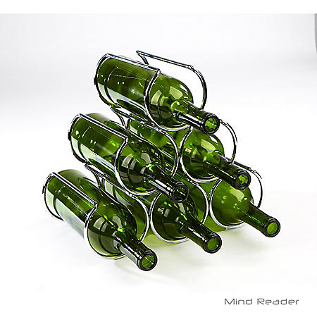 Mind Reader Steel Pyramid Wine Bottle Organizer