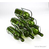 Mind Reader Steel Pyramid Wine Bottle Organizer