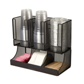Mind Reader Flume 6-Compartment Coffee Condiment and Cup Organizer