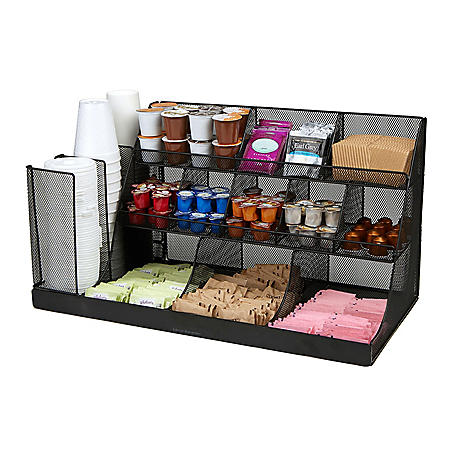 Mind Reader 14-Compartment Large Breakroom Condiment Organizer