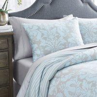 Martha Stewart Sutton Damask 3-Piece Comforter Set (Assorted Sizes)