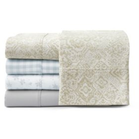Martha Stewart 100% Cotton 4-Piece Sheet Set (Various Colors)