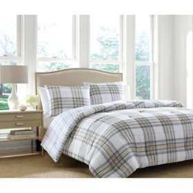Martha Stewart Dylan Plaid 3-Piece Comforter Set (Assorted Sizes)