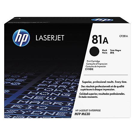 HP 81A Original Laser Jet Toner Cartridge, Black (10,000 Page Yield)