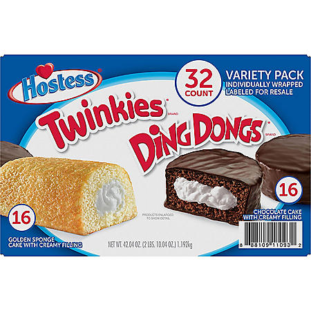 Hostess Twinkies And Ding Dongs Variety Pack (1.31oz / 32pk)