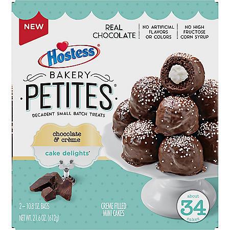 Hostess Bakery Petites Cake Delights, Chocolate & Creme (34 ct.)