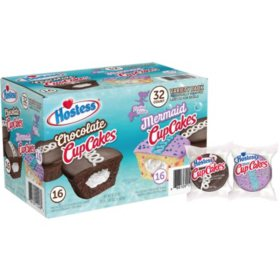 Hostess Mermaid & Chocolate CupCakes Variety Pack (1.61oz / 32pk)