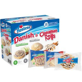 Hostess Danish and Cinnamon Rolls Variety Pack (72 oz., 18 pk.)