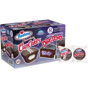 Hostess Star Gazer Ding Dongs and Chocolate CupCakes Variety Pack (32 ct.)