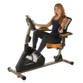 "EXERPEUTIC 4000 Magnetic Recumbent Bike with Programmable Computer and ""Air Soft"" Seat"