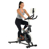 Women's Health Men's Health Eclipse Bluetooth Indoor Cycling Bike with MyCloudFitness App and MyCloudFitness Chest Belt