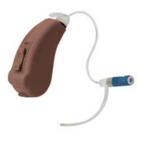 Liberty SIE 128 Channel Speaker-In-The-Ear Hearing Aid Powered by Lucid Technlogy, Brown