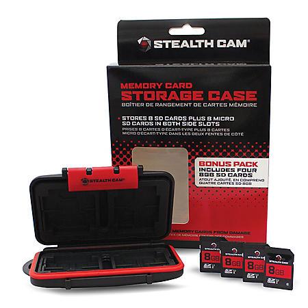 Memory Card Storage Case with (4x) 8GB SD