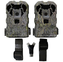 Stealth Cam XS16 2 Pack Game Trail Camera with SD Card Reader Combo CAMO