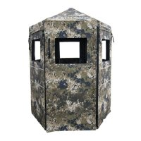 Down & Out Scout Blind with Shoot-Through Mesh Curtains
