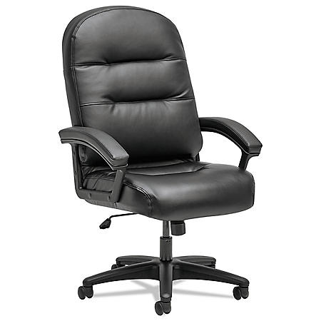 HON Pillow-Soft 2090 Series Executive High-Back Swivel/Tilt Chair, Black