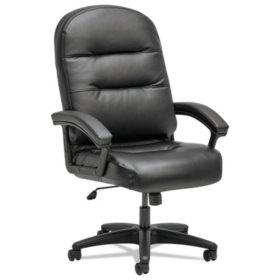 HON Pillow-Soft 2090 Series Executive High-Back Swivel/Tilt Chair, Black