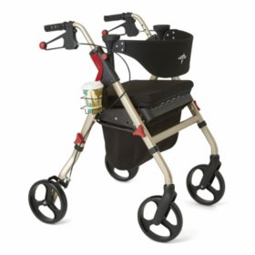 "Medline Empower Rollator Walker with 8"" Wheels (Choose a Color)"