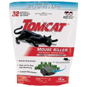 Tomcat  Mouse Killer Child-Resistant Refillable Station - 32 0.5-oz. Refills